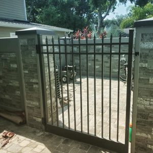 Backyard Iron Gate for Dogs