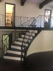 Decorative Curved Staircase Railing