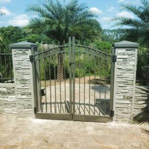 Decorative Fencing and Gate