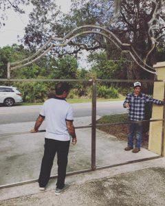 Decorative Gate Installation for Driveway